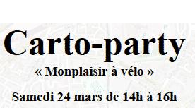 Carto-Party le Samedi 24 mars prochain : Monplaisir à Vélo !