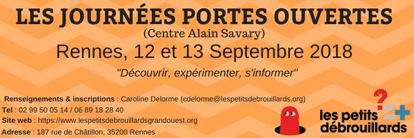 Rennes : Journées Portes Ouvertes les 12 et 13 Septembre !