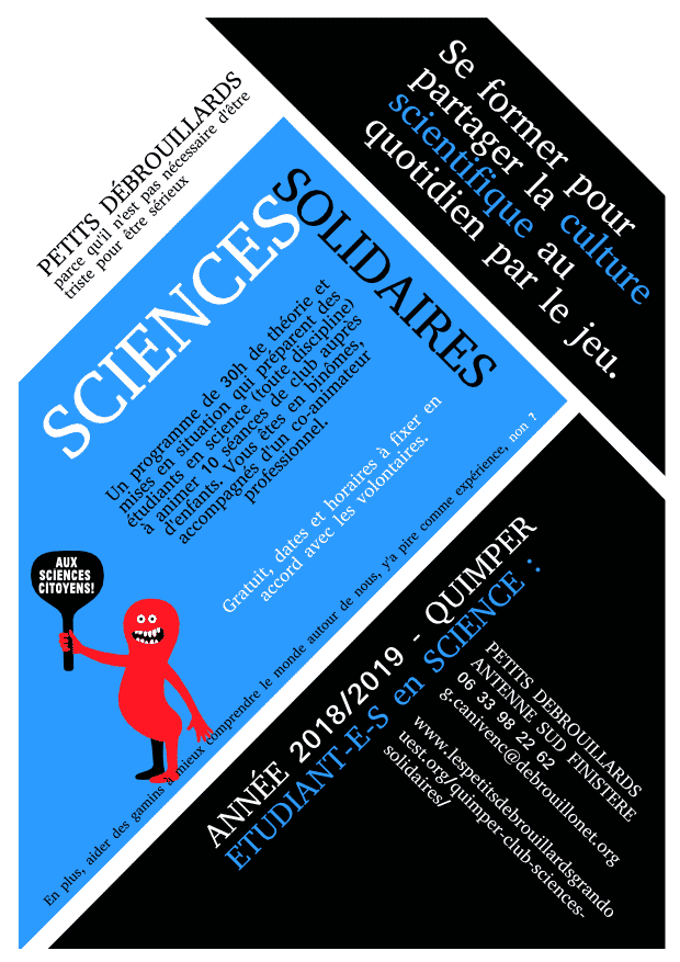 Flyer sciences solidaires Quimper
