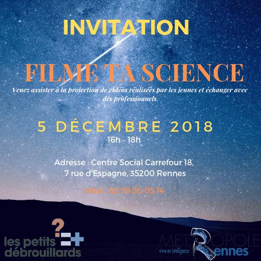 Les Petits Débrouillards organisent un concours vidéo le 5 décembre : Filme Ta Science