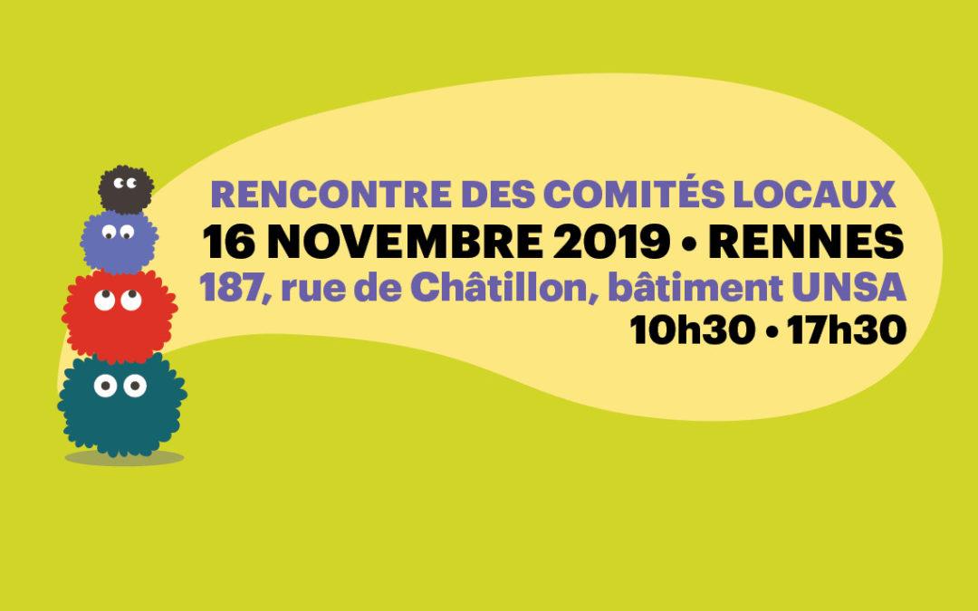 Le 16/11 à Rennes, participez à la première rencontre des comités locaux