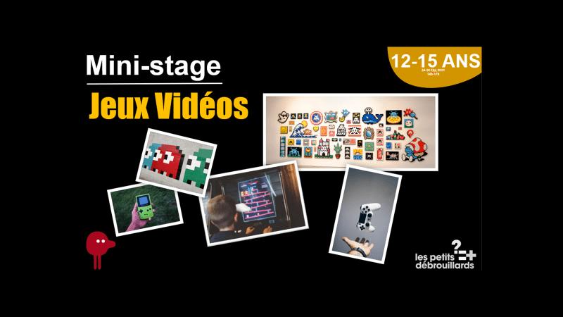Vannes 12-15 ANS Mini-Stage Jeux Vidéos du 24 au 26 Février 2021