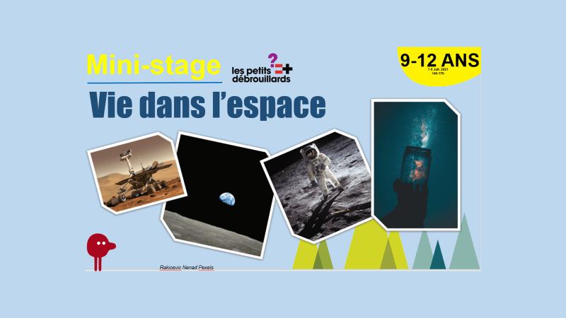 Vannes 9-12 ANS Mini-Stage Vie dans l'espace 7-9 Juillet 2021