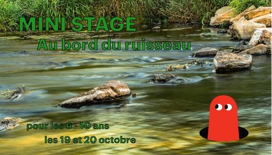 """ANNULE / [La Roche-sur-Yon] Mini-stage """"Au bord du ruisseau"""""""