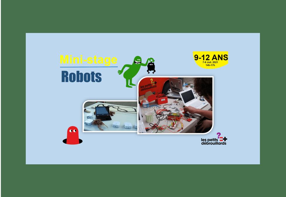 Vannes 9-12 ANS Mini-Stage Robots 25-27 Août 2021