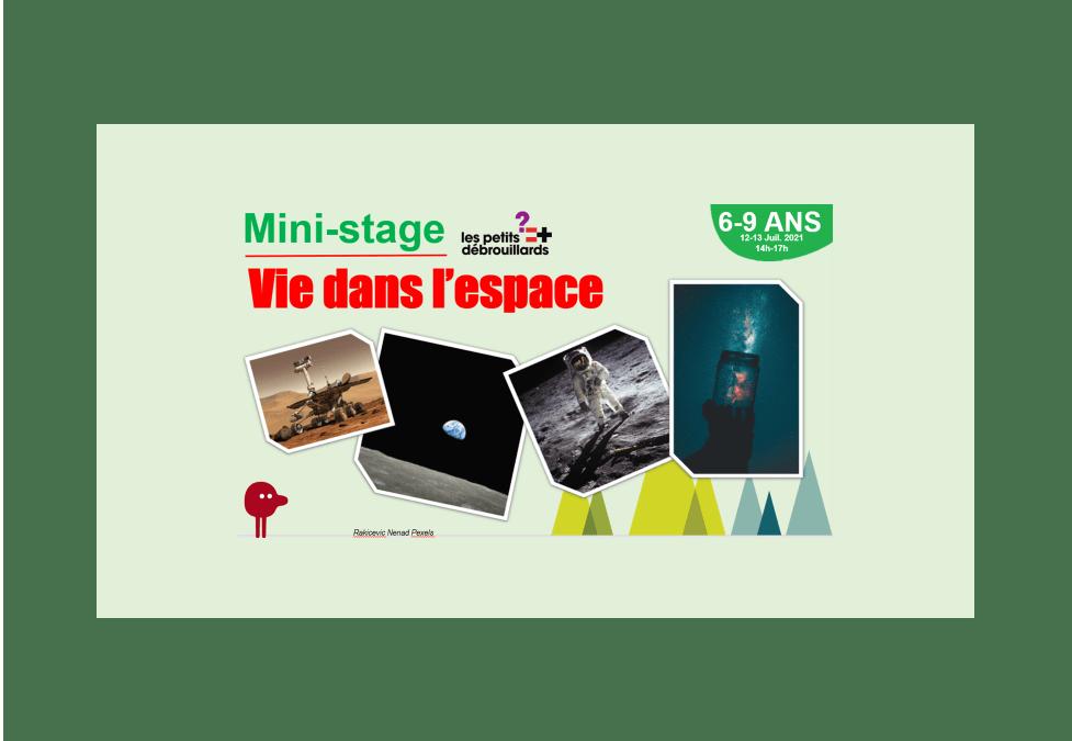 Vannes 6-9 ANS Mini-Stage Vie dans l'espace 12-13 Juillet 2021