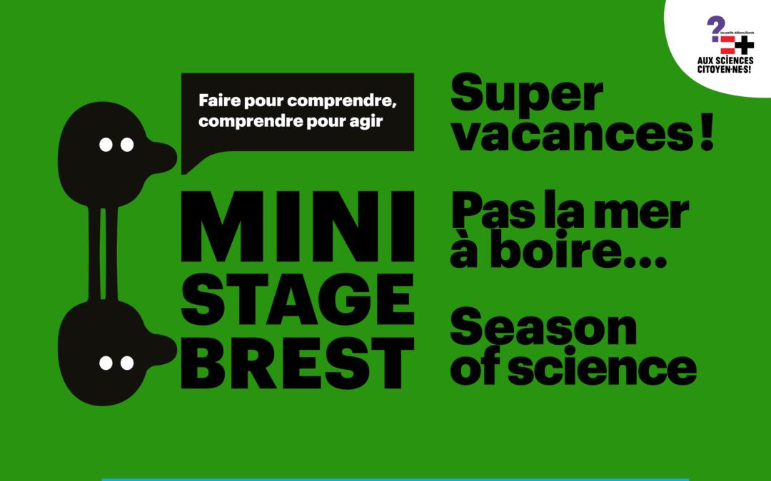 Brest. Demandez le programme des mini-stages 20/21!
